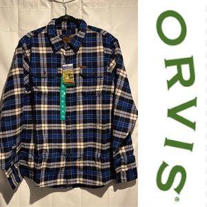 ORVIS Men's Size XL Heavyweight Flannel Shirt NWT